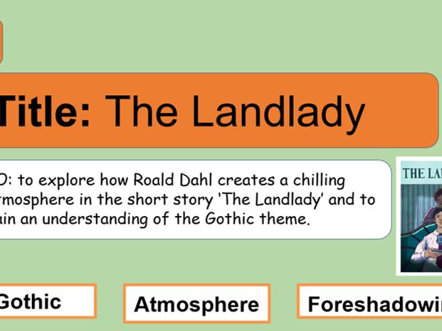 The Landlady set of lessons - KS3 English