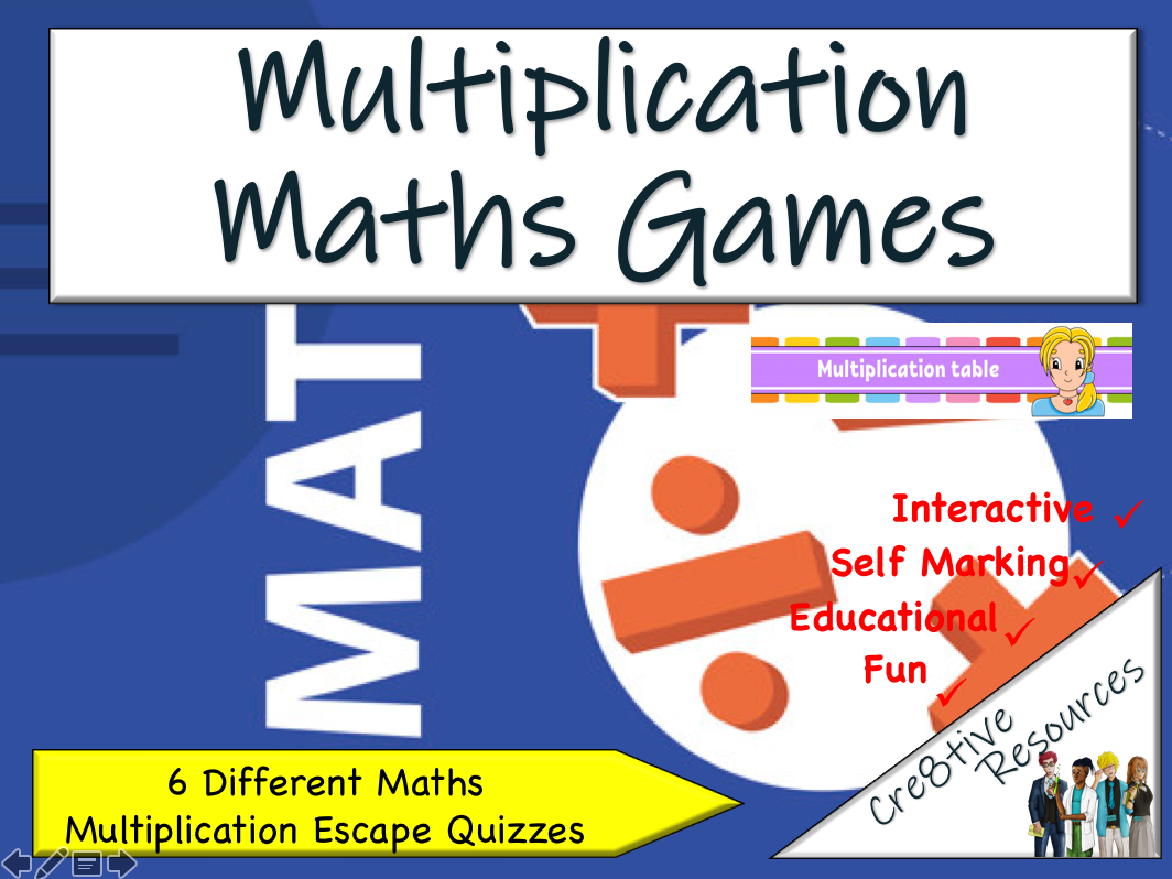 Maths Multiplication Escape Rooms Games