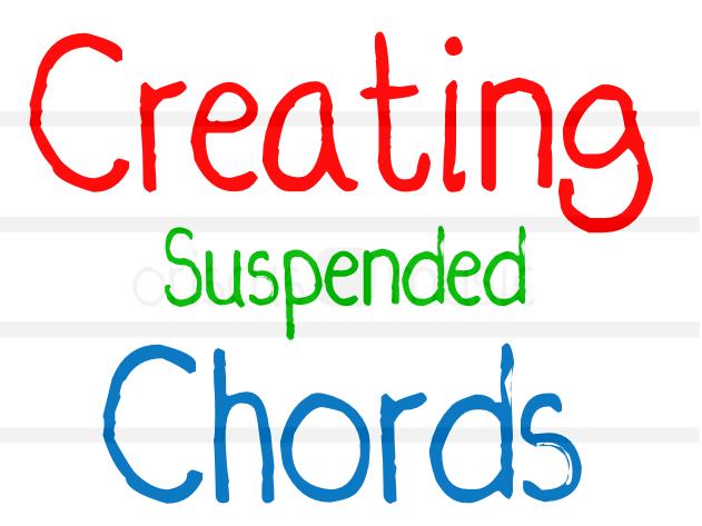 Creating Suspended Chords Worksheet Pack