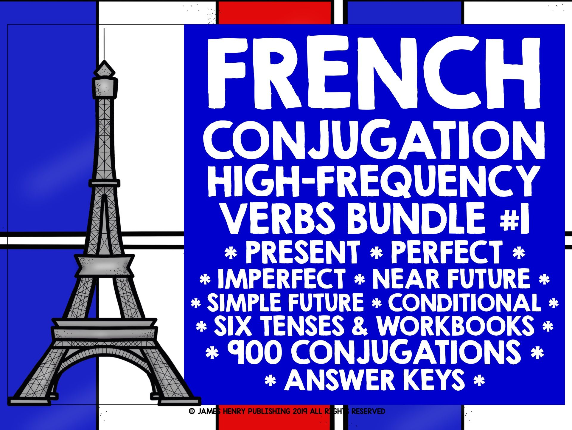 FRENCH HIGH-FREQUENCY VERBS BUNDLE 1