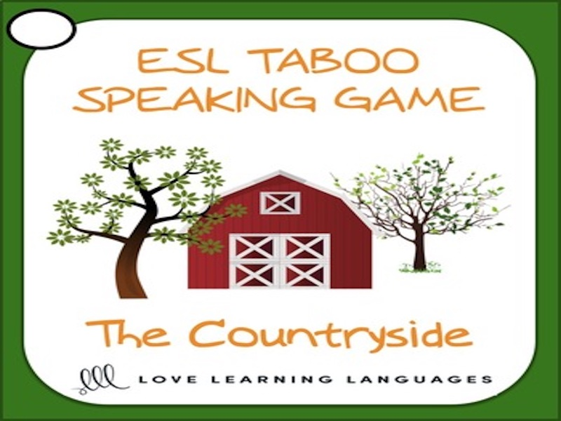 Countryside - ESL - ELL Taboo Speaking Game