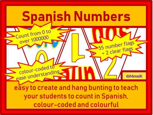 Spanish Bunting: Numbers 0 to over 1 million