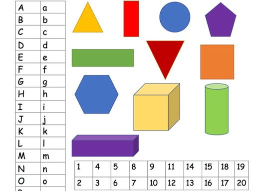 Initial EYFS/Year one maths and alphabet assessment