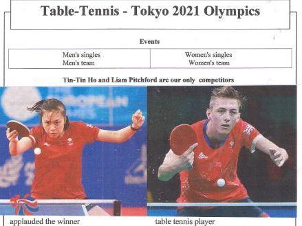 Tokyo 2021 Table Tennis