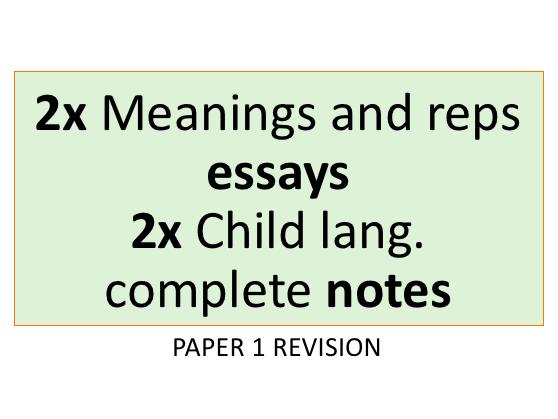 Paper 1 Revision A Level English Language | AQA New Spec