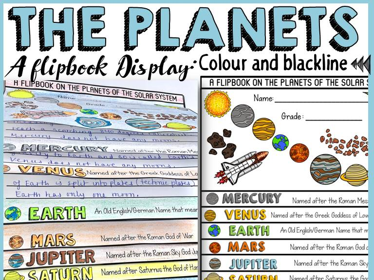 PLANETS OF THE SOLAR SYSTEM EDITABLE FLIPBOOK