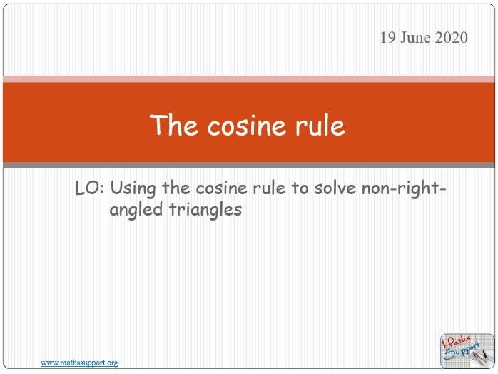The cosine rule