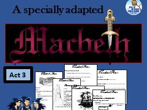 Macbeth Act 3 (Adapted) and activities
