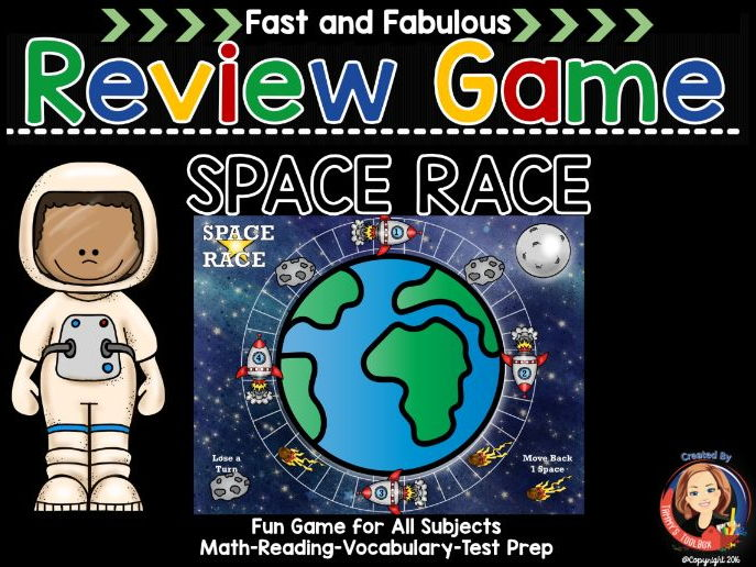 Space Race Fact Review Game for Any Subject