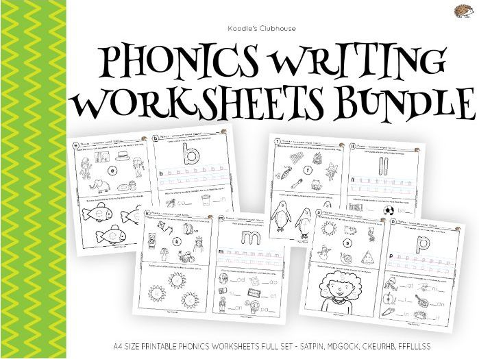 Phonics Beginner's Worksheet Set