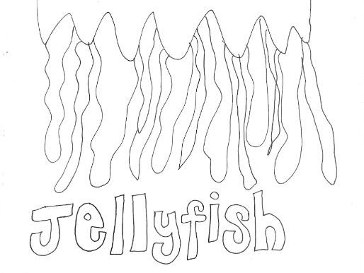 Jellyfish: Animals and Pets: Colouring Page