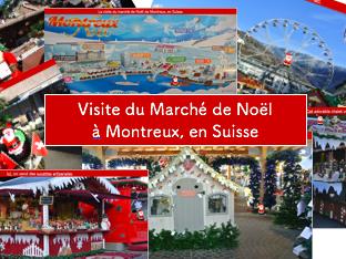Spot Santa: Christmas Market in Montreux, Switzerland- Marché de Noël