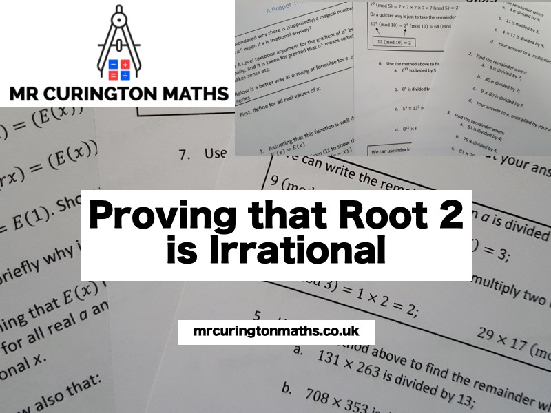Proving that Root 2 is Irrational