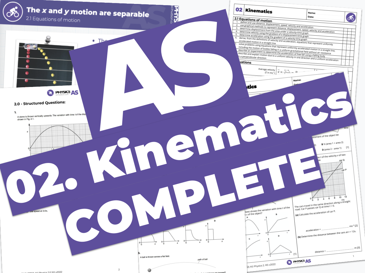 AS Physics 9702 - COMPLETE - 02. Kinematics