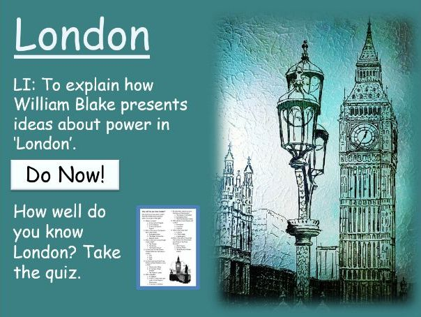 London (Poem) for Lower Ability