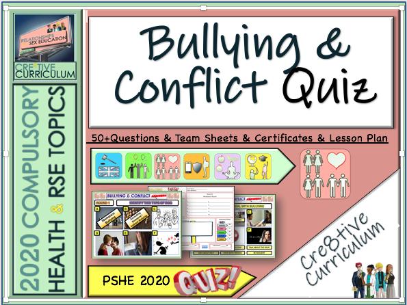Bullying + Conflict PSHE Quiz