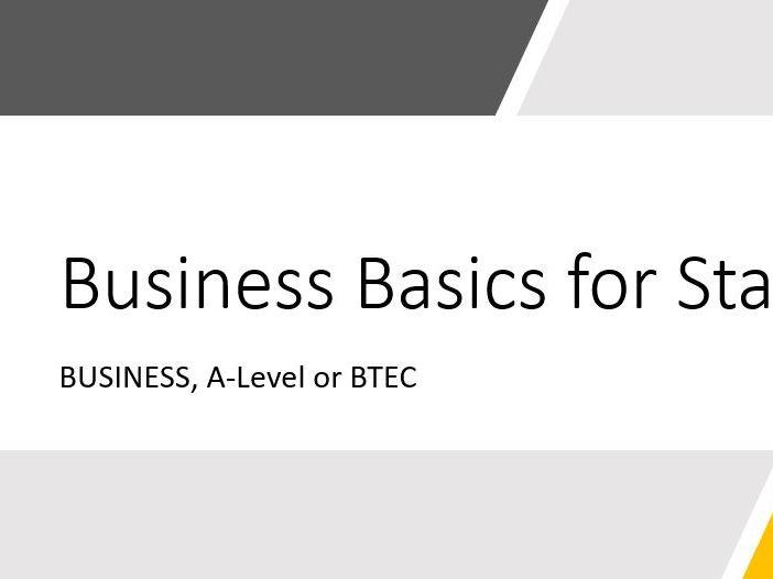 Business Basics for Start-ups