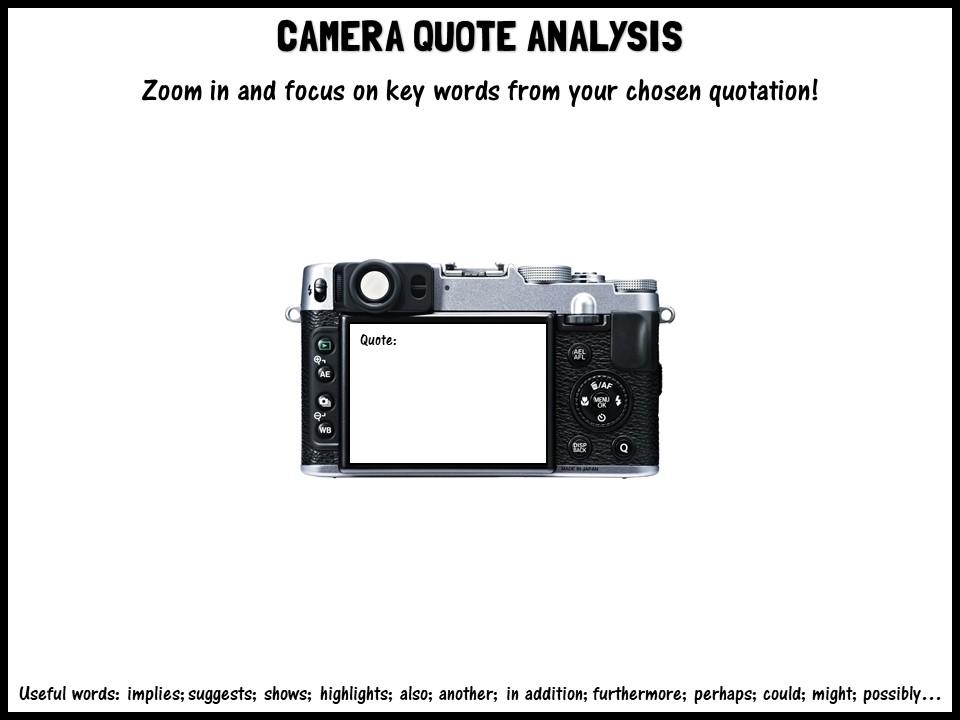 Camera quote analysis