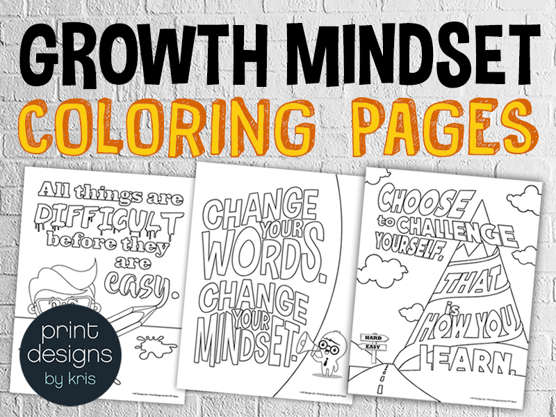 20 Growth Mindset Classroom Coloring Pages
