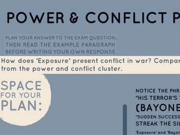 Home School: Power & Conflict Poetry: Conflict in War Essay Question & Response