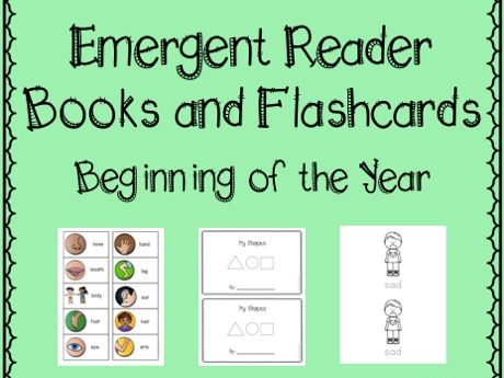 Emergent readers and flashcards - back to school
