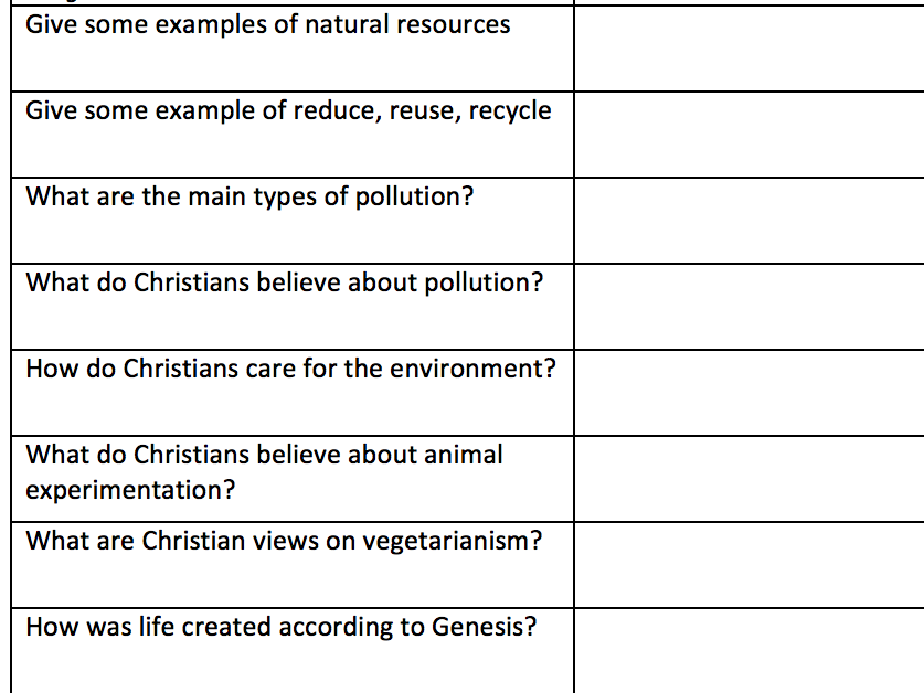AQA RS New Spec 9-1 Religion and Life flashcards