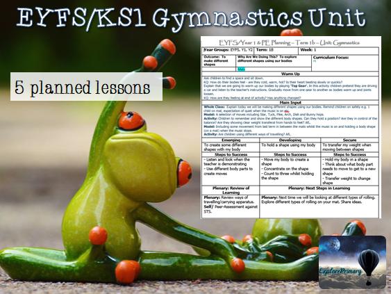 EYFS / KS1 PE Gymnastics Unit