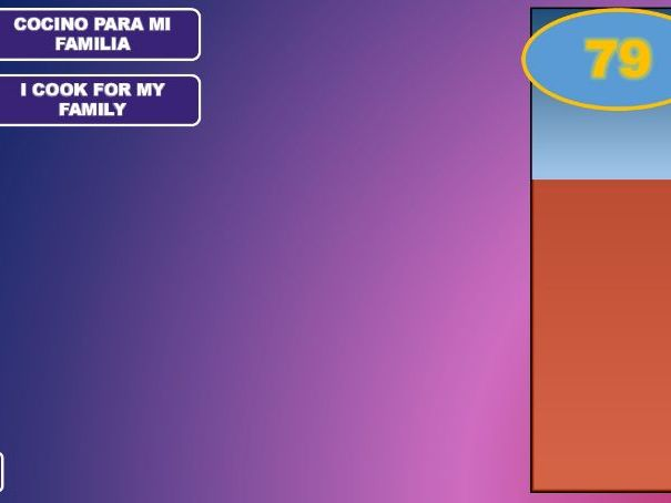 GCSE Spanish Pointless Game