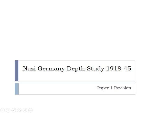 GCSE History: Nazi Germany Depth Study 1918-1945
