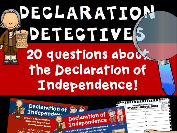 Declaration of independence questions
