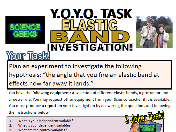 SCIENCE EXPERIMENTS - YOYO INVESTIGATION! ELASTIC BANDS! PRACTICAL TIME!