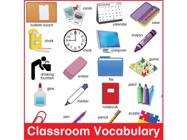 ESL Classroom Vocabulary Chart