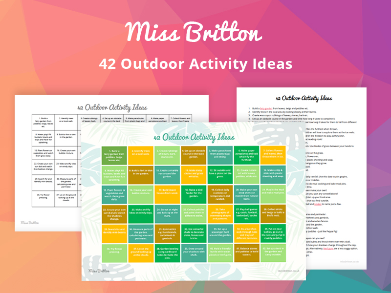 42 Outdoor Garden Activity Ideas