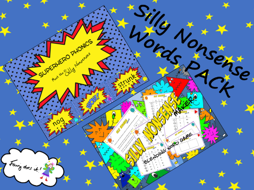 Silly Nonsense Words Phonics PACK