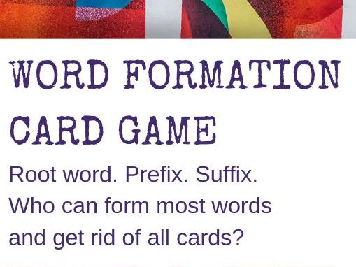 Word Formation Card Game