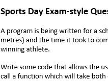 Exam style pseudocode questions (AQA)