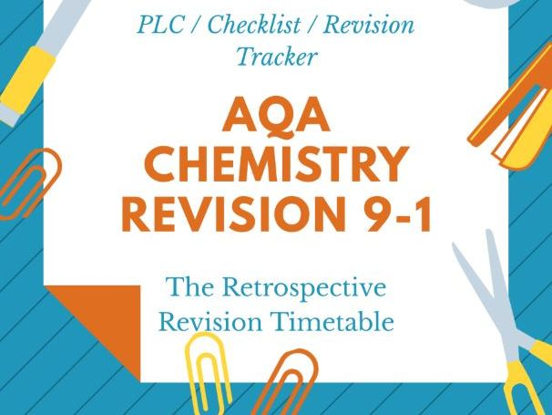 AQA GCSE Science Chemistry  Revision Tracker PLC  9-1