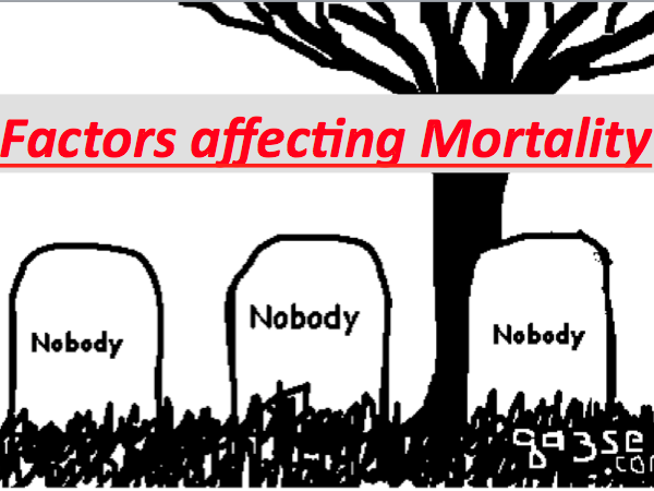 Factors affecting Mortality Rates -Exploring  Population & measurements of Mortality