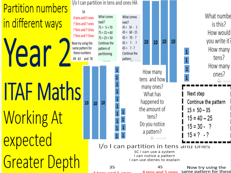 Year 2 ITAF Number Partitioning into tens and ones