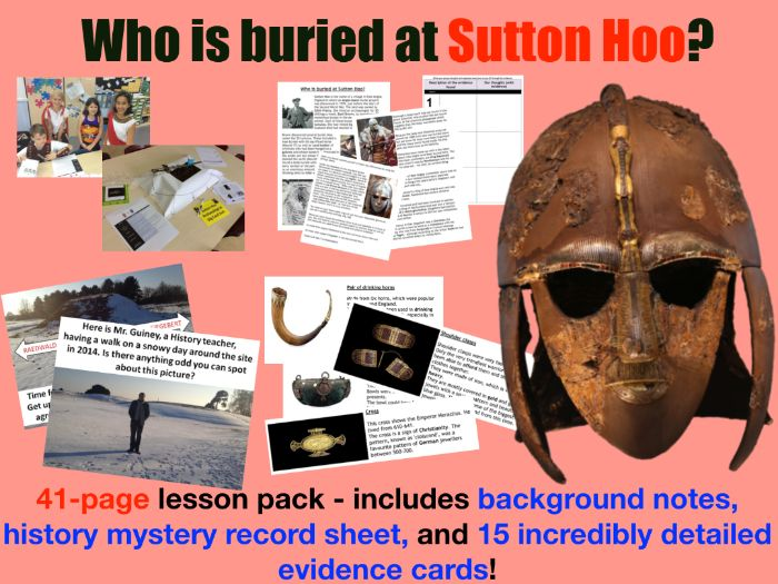 Anglo-Saxon burial - 41 page lesson pack