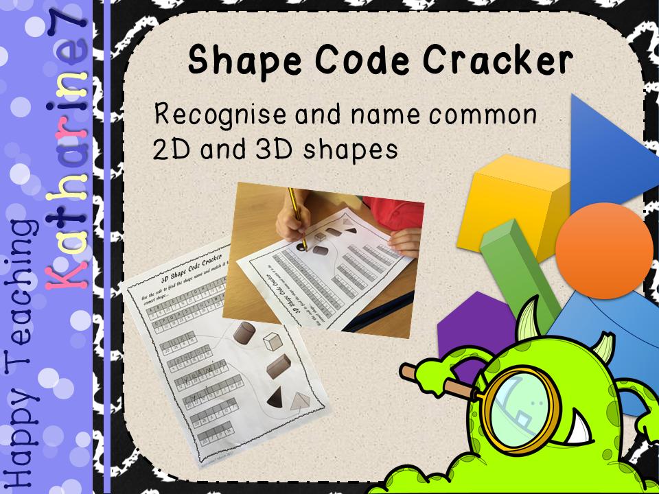 2D and 3D Shape Worksheet