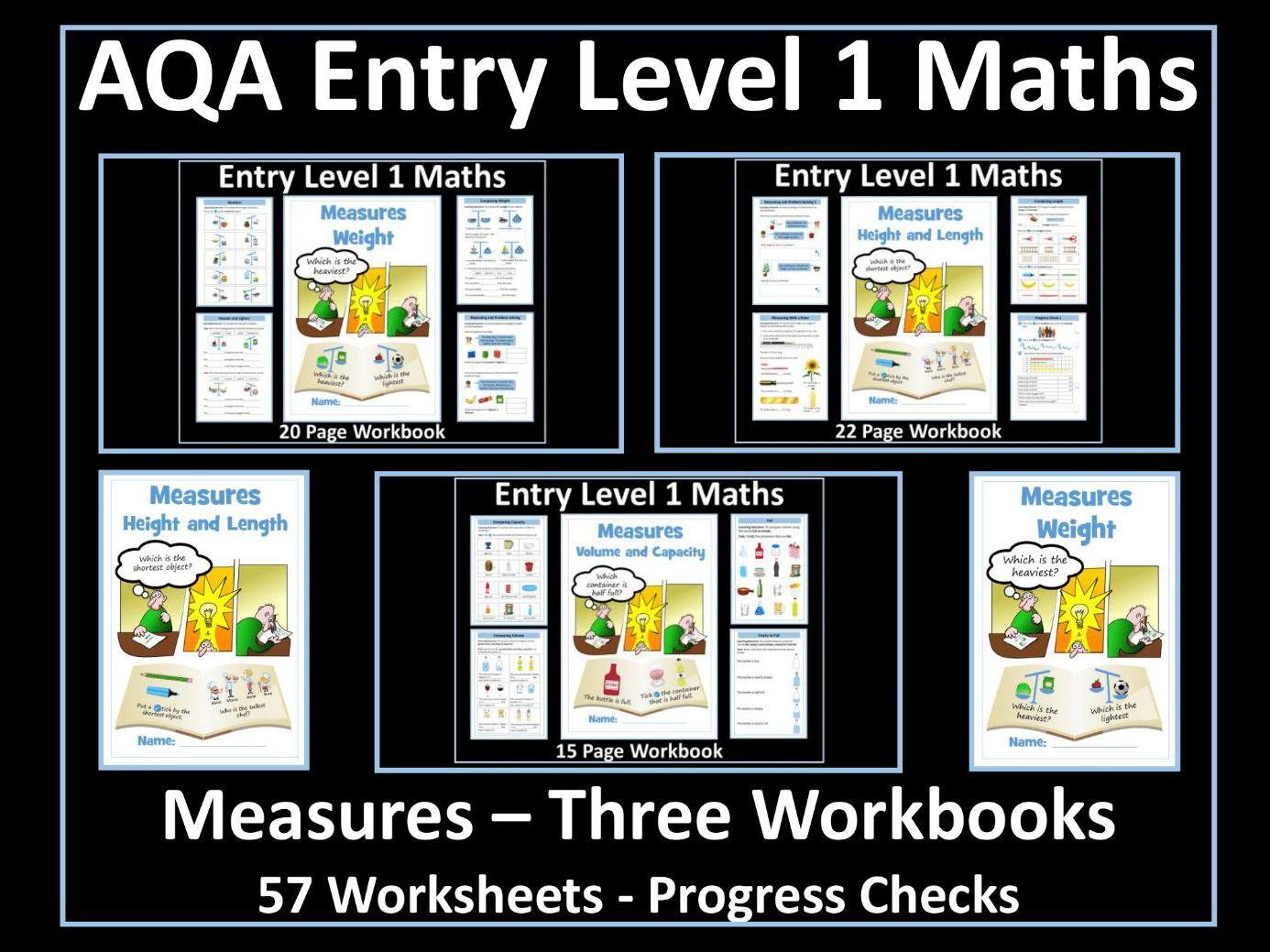 Measures: AQA Entry Level 1 Workbooks