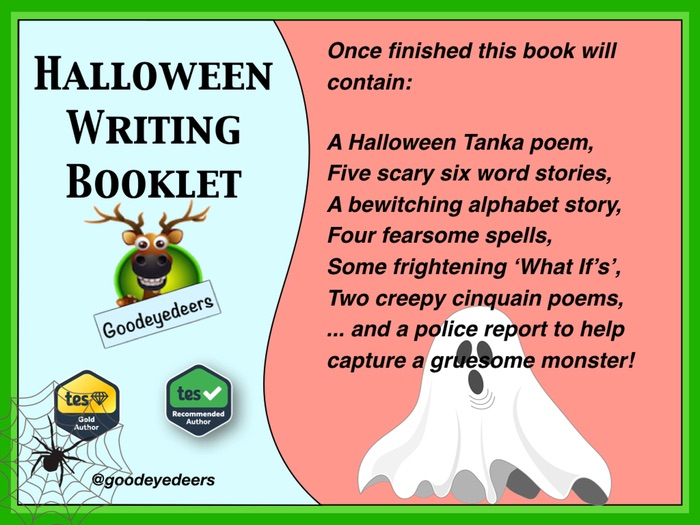 Halloween Creative Writing Ideas  - Workbook for Children