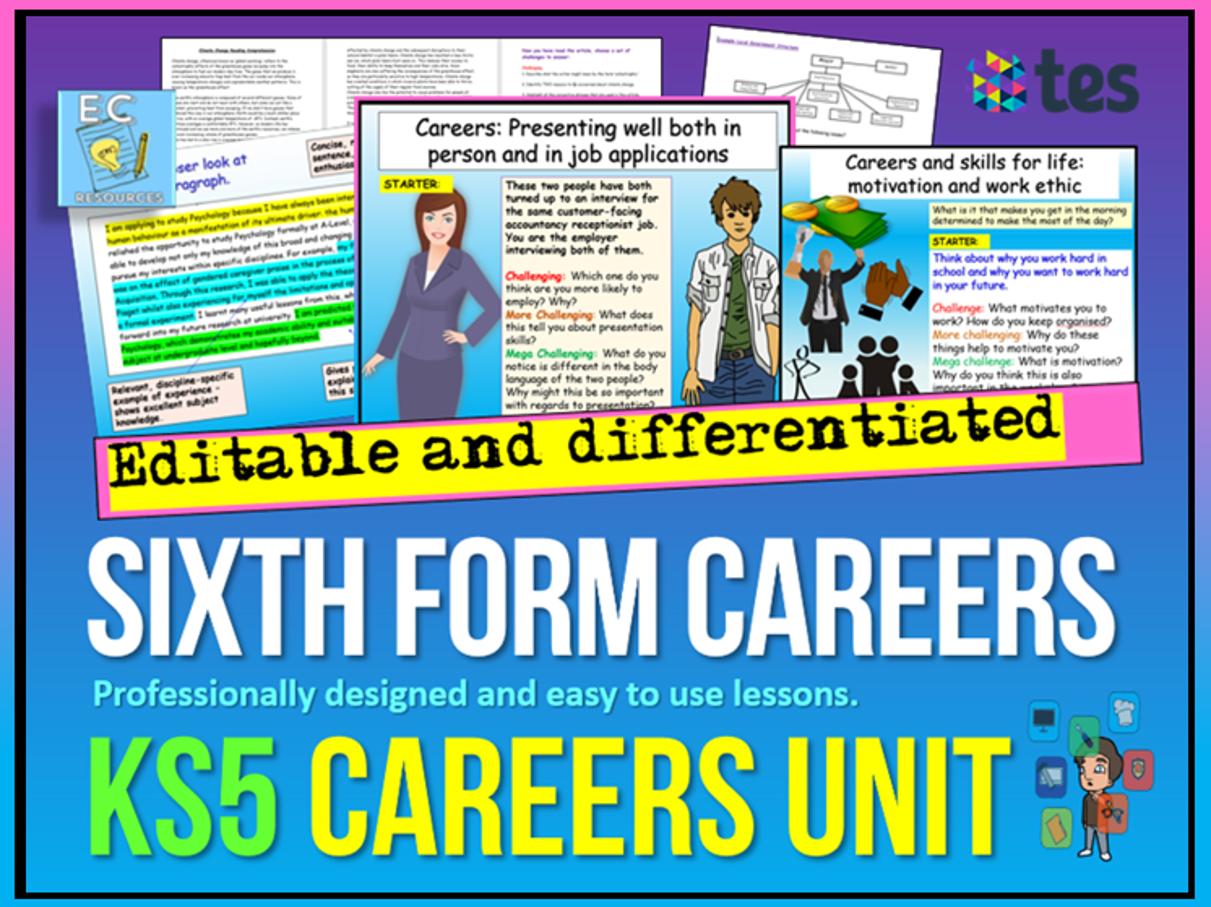 Sixth Form / KS5 Careers