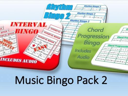 Music Bingo Pack 2