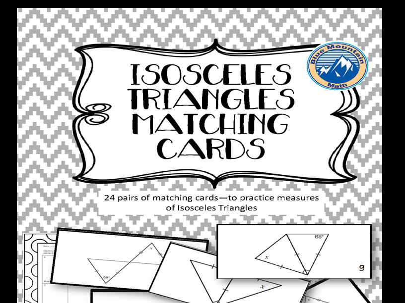 Isosceles Triangles Matching Card Set