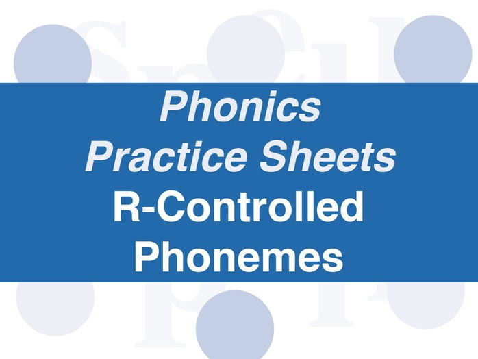 Phonics Practice Sheets: Foundation Stage R-Controlled Phonemes
