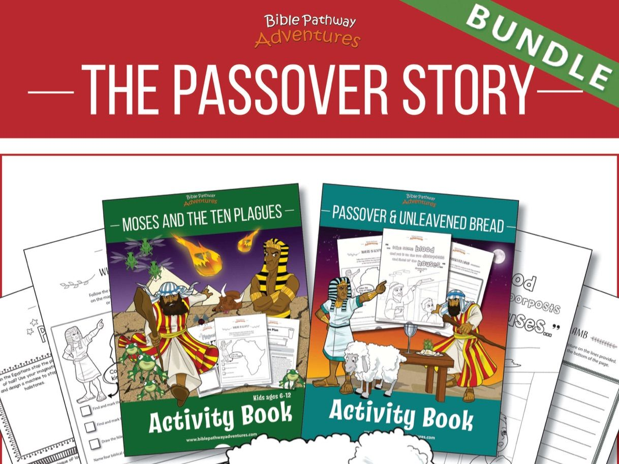 The Passover Story Activity Books BUNDLE