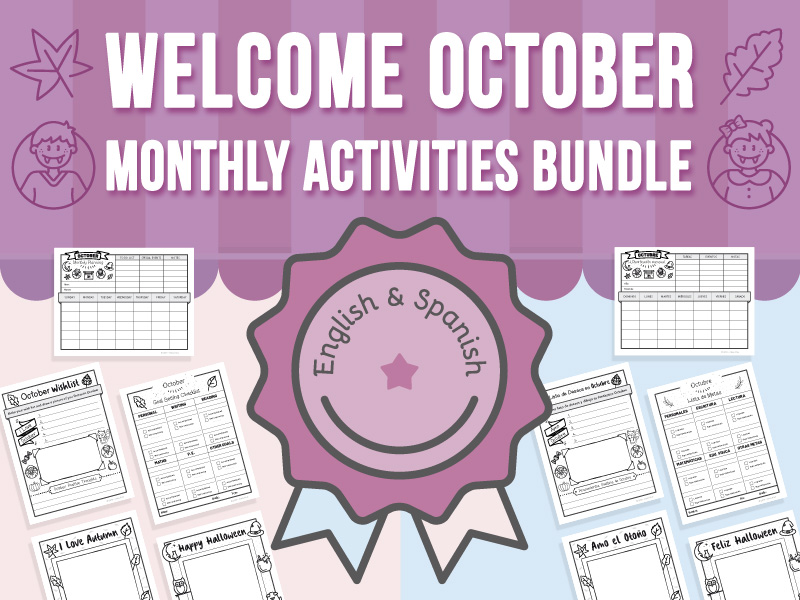 Welcome October - Monthly Activities BUNDLE