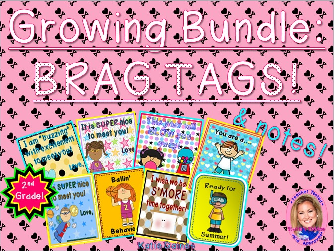 GROWING BUNDLE: Brag Tags! (Second Grade)